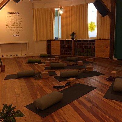 Yin Yoga setup