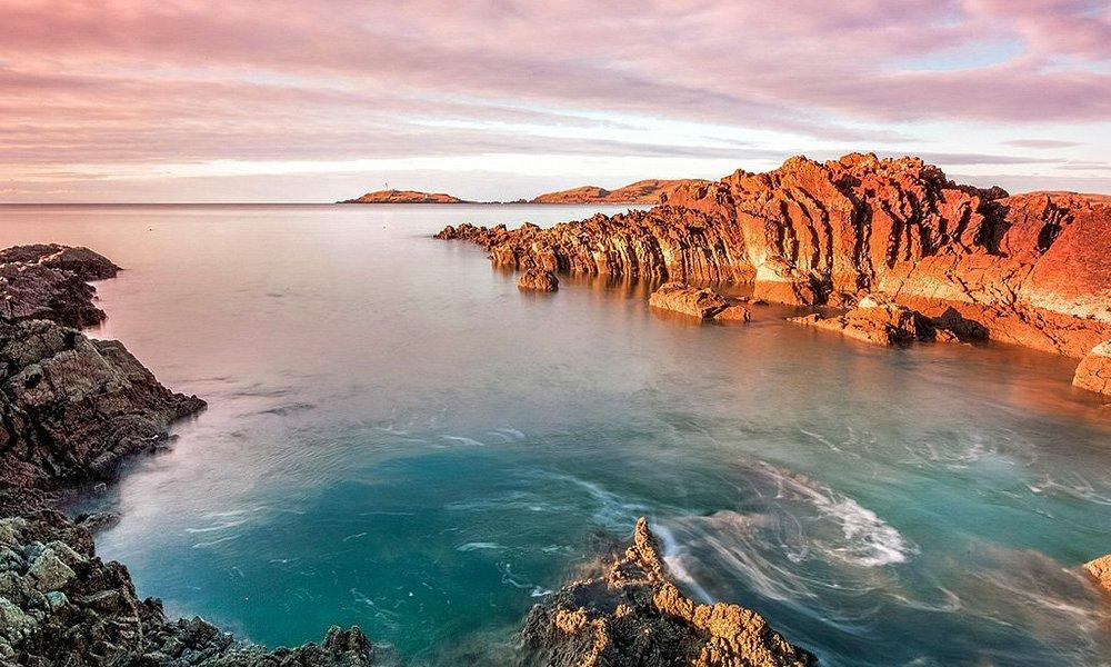 Rocky coast at Torrs Point near Kirkcudbright