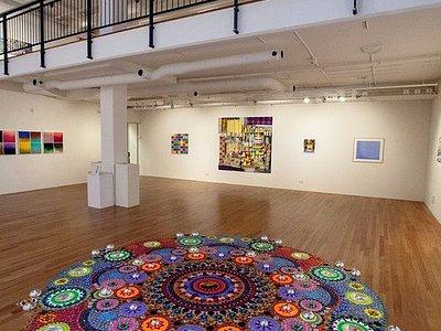 Inside Gallery De Meerse, exhibition Colour (Suzanne Drummen e.a. past) Picture Jaap Reedijk