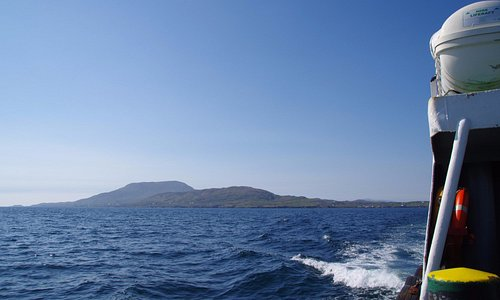 Clare island in the distance from the Ferry