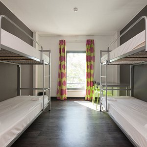 The Multiple Bedroom with Four Beds at the Lisbon Parque das Nacoes Youth Hostel