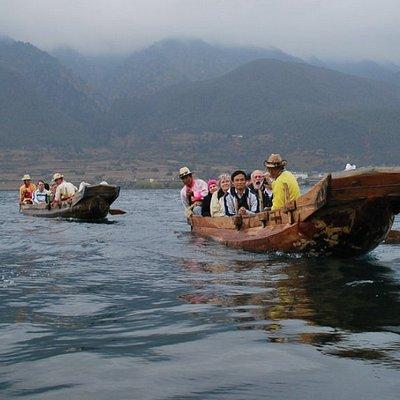 Boat cruise in Lugu Lake