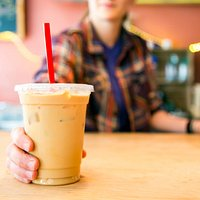 We serve yummy iced lattes. Try the honey cinnamon; it's with local honey! (PC: Whitney S. Willi