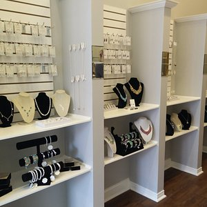 Large selection of necklaces, earrings, rings, bracelets and gifts.