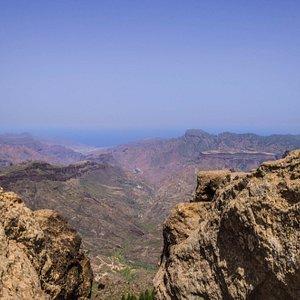 Płaskowyż Mesa de Aacusa widoczny z Roque Nublo