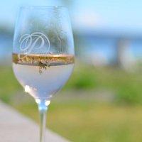 Glass of wine at Palouse winery
