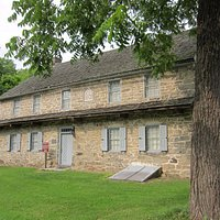 Troxell-Steckel Farm House with lovely date stone.