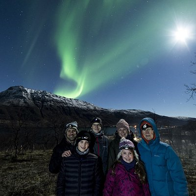 One of Aurora Addicts' family half term Northern Lights trips