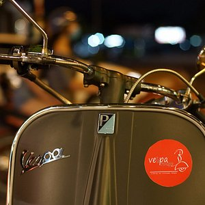 All tours are conducted on vintage vespa scooters.