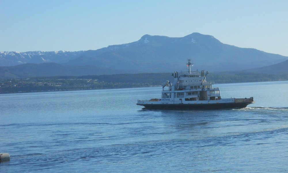 Ferry headed back to Port McNeill from Sointula
