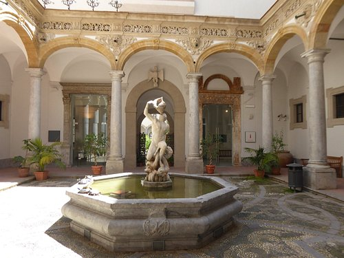 One of the courtyards in the museum
