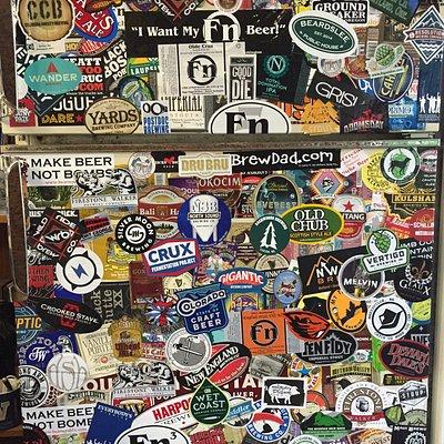 Beer fridge in the tasting room