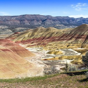 The Painted Hills in March right after a night of rain.