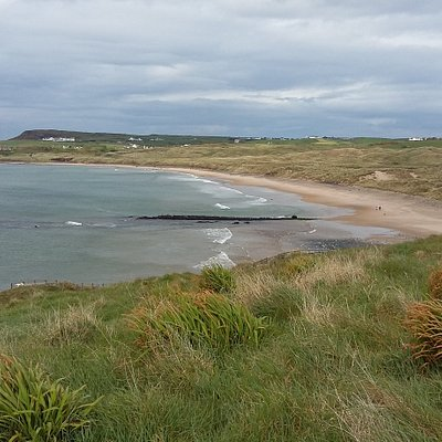 View along Bushfoot strand from the Earthworks