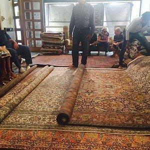 Clients viewing Fine Silk Carpets