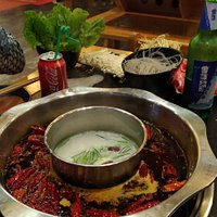 Very spicy hotpot....