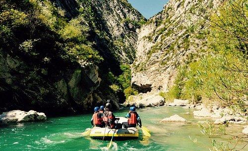 Premières gorges du parours Rafting