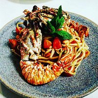 linguini with lobster.....
