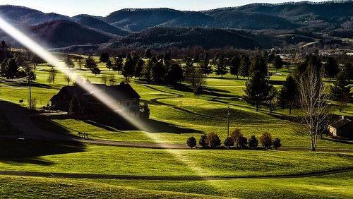 golf club al tramonto. Stupefacente