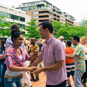 Danssalon in de zomer