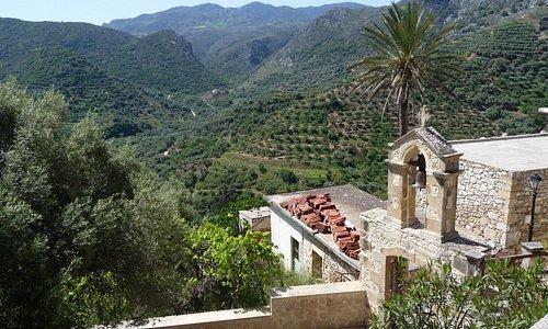 Polyrinia village: view to the west.
