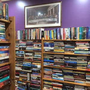 All genres, three huge rooms brimming to overflowing with exciting reads!