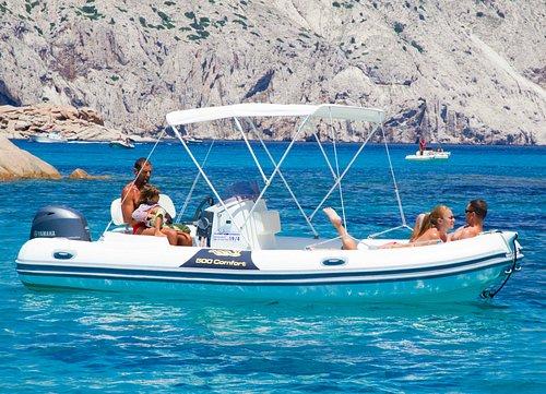 "scirocco boat at "" the swimming pools "" Molara island"