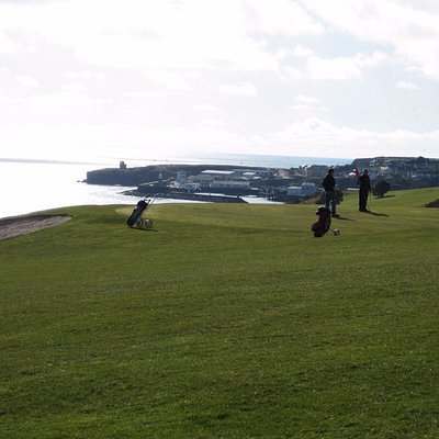 One of the many clifftop greens