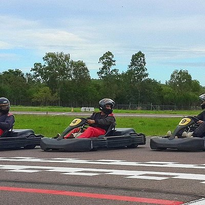 Mates trying to race each other