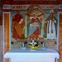 Altare in muratura con Pala dipinta su muro !