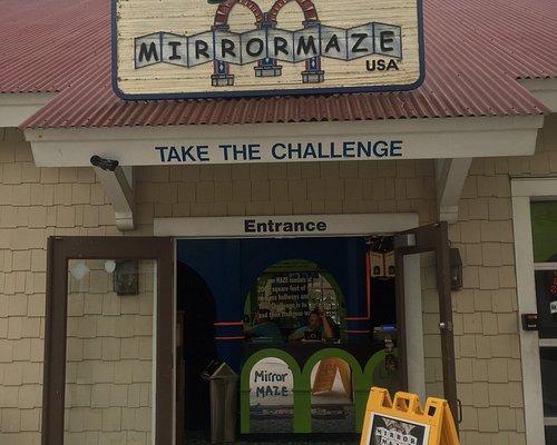 The entrance to the Mirror Maze
