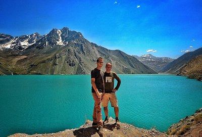 Cajon Del Maipo com fundo de Andes