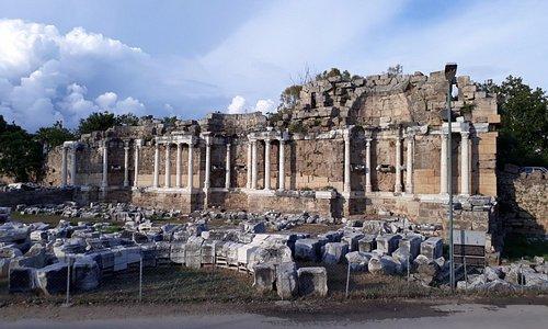 Side Anıtsal Çeşme (Nymphaeum) 19.05.2017, Manavgat-Antalya