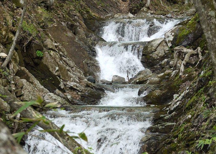 "first view of water falls called ""Nikai-daki"""