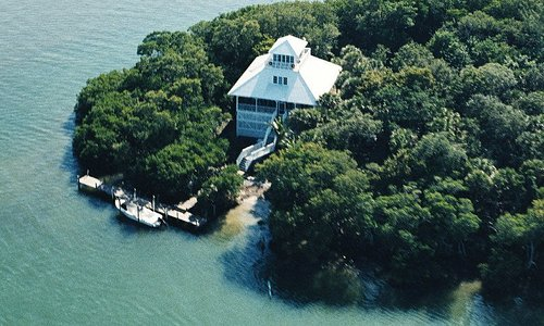 Aerial of cottage
