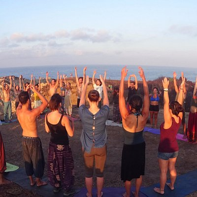 Sunrise meditation at Punta Cometa