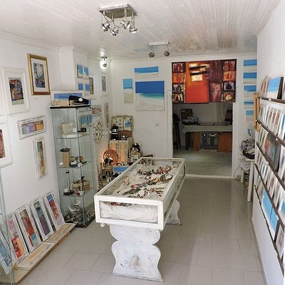 Fiona Gillies art gallery inspired by Paxos waiting for your visit!