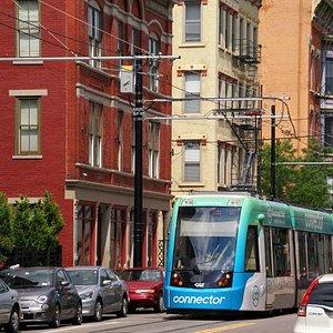 A trolley on 12th Street.