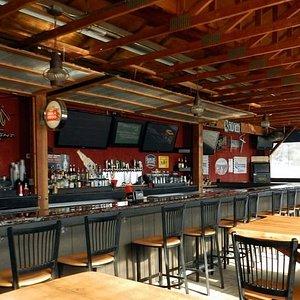 open-air patio bar
