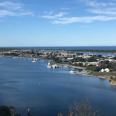 Views of the North Arm and Cunnighame Arm surrounding the town of Lakes Entrance Vic