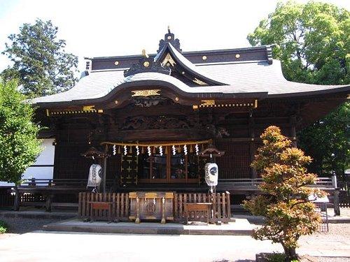 阿豆佐味天神社拝殿