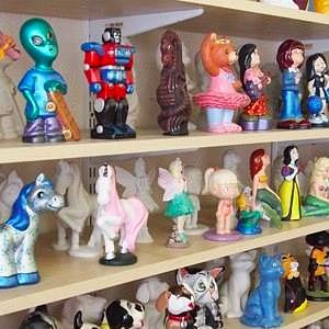 There's a huge selection of ornaments available to paint at Crafty Corner