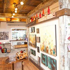 Walls and walls of Original Artwork
