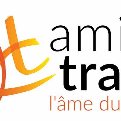 Le nouveau logo de l'agence de voyage Amica Travel depuis avril 2017.