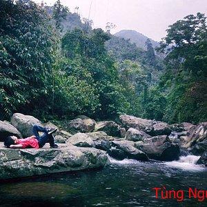natural waterfall in thai nguyen