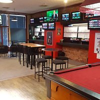 TAB with pool table and FOX sports
