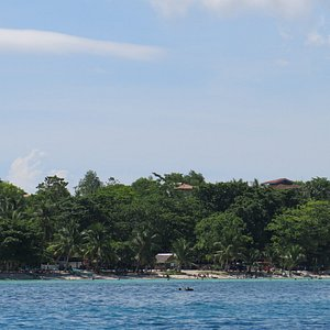 View from the dive boat