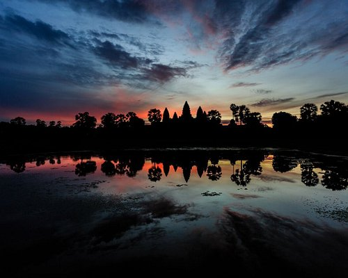 Angkor with sunset view