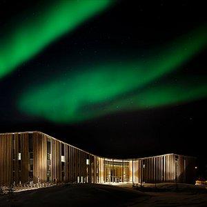 Aurora borealis over Sajos