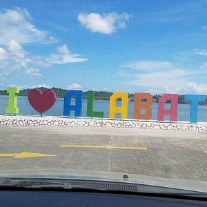 Welcoming sign of Alabat.